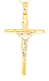 14K Two Tone Gold Crucifix Charm 50001775