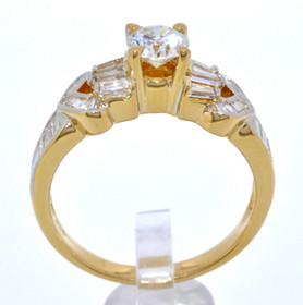 18K Yellow Gold Fancy Diamond Engagement Ring