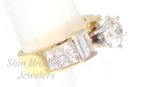 18K Yellow Gold 1.25 ct Diamond Engagement Ring Setting