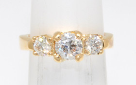 14K Yellow Gold 0.71 ct Diamond Engagement Ring