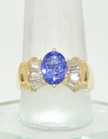 12001736 14K Yellow Gold Tanzanite Diamond Ring