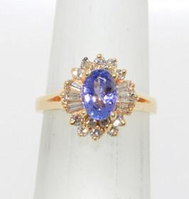 14K Yellow Gold Diamond & Tanzanite Ring 12000789