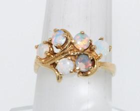 12001106 14K Yellow Gold Opal Fancy Ring