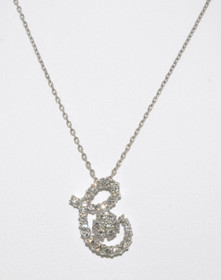 "14K White Gold Diamond ""C"" Initial Necklace 31000178"