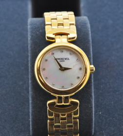 63310032 Raymond Weil 18K Gold Electro-plated Pre-Owned Watch