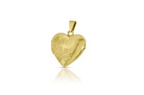 14K Yellow Gold Florentine Fancy Heart Locket 50000330