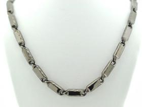 83010103 Black Silver  Chain
