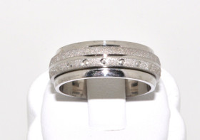 80000152 Silver Fancy Wedding Band