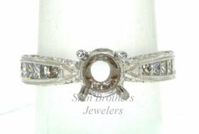 18K White Gold 0.81 ct Diamond Engagement Ring Setting