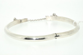 92510084 Silver Plain Shiny Baby Bangle