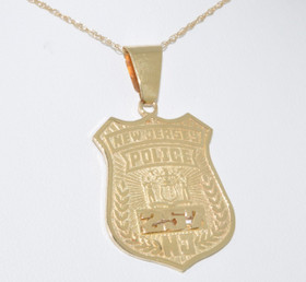 50000153 14K Yellow Gold New Jersey Police Badge Charm