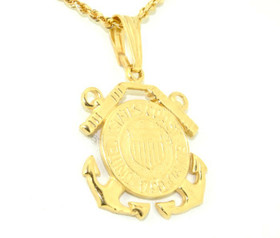 50001354 14K Yellow Gold Coast Guard Charm
