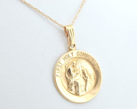 14K Yellow Gold First Holy Communion Charm 50001365
