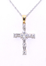 51000636 14K Yellow Gold Diamond Cross