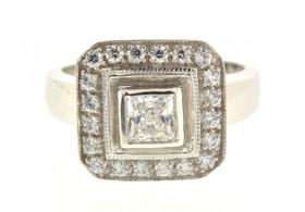 12001770 10K White Gold CZ Designer Ring