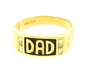 14K Yellow Gold Dad Ring With Onyx 10016222