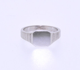 10016247 14K White Gold Baby Signet Ring