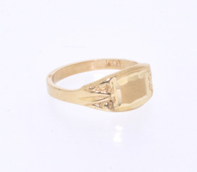 10016143 14K Yellow Gold Signet Ring
