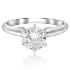 14K White Gold  1.20 ct Diamond Engagement Ring