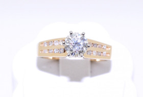 14K Yellow Gold 0.67 ct Diamond Engagement Ring