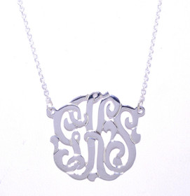 Sterling Silver Personalized Monogram Necklace 83310006