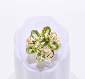 12000613 14K Yellow Gold Peridot Ring
