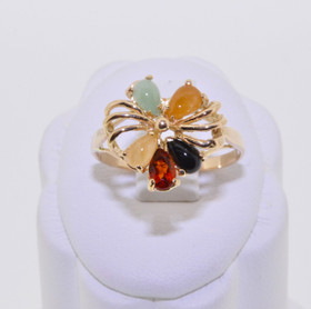 14K Yellow Gold Multi  Color stone Ring 12000377