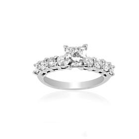 14K White Gold GIA Certified 1.03 ct Diamond Engagement Ring-R