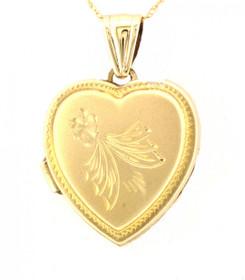 14K Yellow Gold Heart Locket Charm 50001967