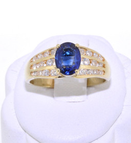 12001782 14K Yellow Gold Diamond/Tanzanite Ring