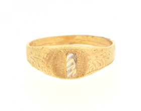 10016250 14K Yellow Gold Initial 'I' Baby Signet Ring