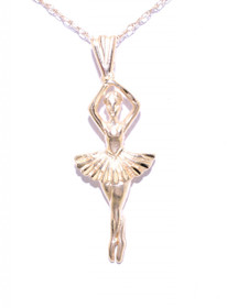 50001561 14K Yellow Gold Ballerina Charm