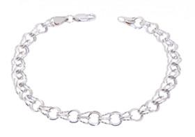 14K White Gold Charm Bracelet 20000974