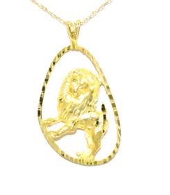 14K Yellow Gold Zodiac Leo Charm 50000673