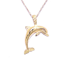 14K Yellow Gold Dolphin Charm 50001238