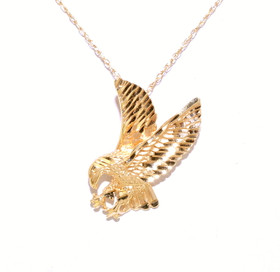 14k Yellow Gold Eagle Charm 50002148