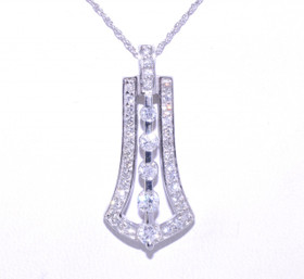 14K White Gold Diamond Fancy Pendant 51001300