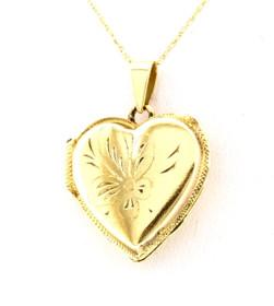 14K Yellow Gold Heart Locket Pendant 50001968