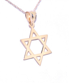 50002196 14K Yellow Gold Star of David Charm