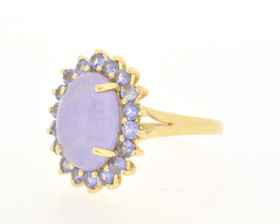 12001128 14K Yellow Gold Jade/Amethyst Ring