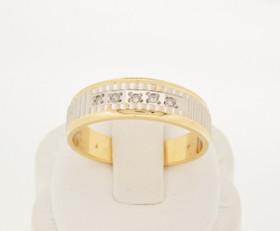 14K Two Tone Gold Diamond Wedding Band 11001454