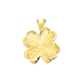 14K Yellow Gold Four Leaf Clover Charm 50001909