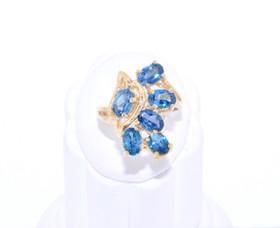 12001879 14K Yellow Gold Blue Topaz Ring