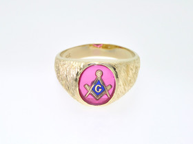 14K Yellow Gold  Masonic Ring 12001848