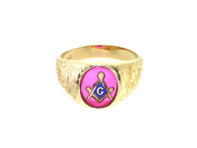 14K Yellow Gold  Masonic Men's Ring 12001848