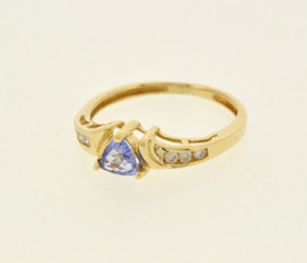 14K Yellow Gold Tanzanite/Diamond Ring 12001822
