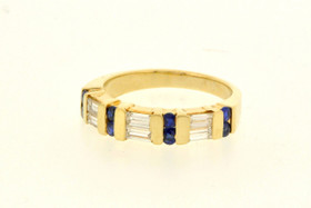 12001825 14K Yellow Gold Sapphire/Diamond Ring