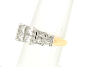 Two Tone Gold 1.20 ct Diamond Engagement Ring