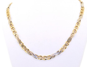 "30001994 14K Two-Tone 22"" Fancy Gucci Link Chain Necklace"