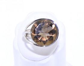 12001835 14K White Gold Smokey Topaz Ring